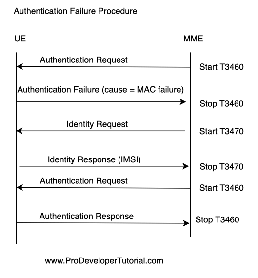 LTE NAS: Authentication procedure
